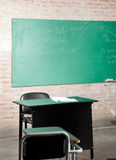 Classroom With Greenboard And Furniture Stock Image