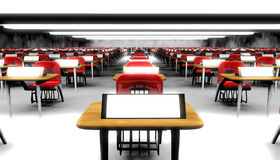 Classroom. Hundreds of desks in a large classroom Royalty Free Stock Images