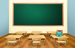 Classroom. Illustration of an empty classroom Royalty Free Stock Images