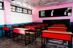 Classroom in an indian school Stock Images