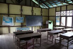 Classroom indonesia. Kalimantan borneo school Royalty Free Stock Images