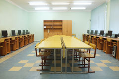 Classroom. Interior of a class room Stock Image