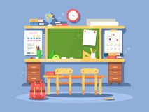 Classroom interior design Royalty Free Stock Images