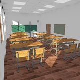 Classroom interior  - empty Stock Photos