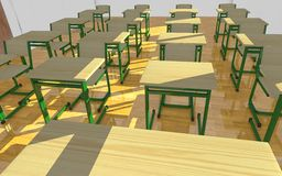 Classroom interior - empty chairs Stock Image