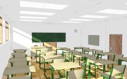 Classroom interior - empty room Stock Images