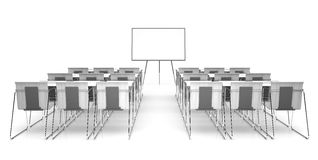 Classroom isolated on white background 3D renderimg Royalty Free Stock Image