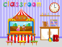 Classroom for kindergarten students Royalty Free Stock Images