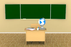 Classroom for lessons and training. 3d illustration Stock Photos