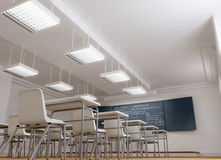 Classroom from low angle Royalty Free Stock Photos
