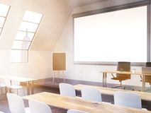Classroom with NY view toning Stock Photos