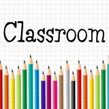 Classroom Pencils Represents Educate Schooling And Kid Stock Photography
