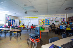 Classroom in primary school. Classroom in an american, private primary school Royalty Free Stock Images