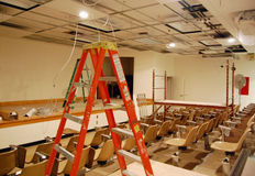 Classroom remodeling Royalty Free Stock Image