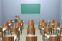 Classroom render Royalty Free Stock Image