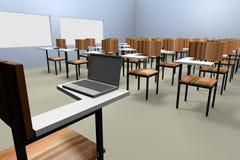 Classroom render Stock Image