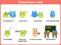 Classroom rules for kids Stock Photography