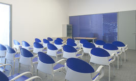 Classroom with School chairs and desk Royalty Free Stock Photos