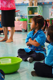 Classroom Thailand. Thailand National Children's learning in the classroom listening to the teacher Royalty Free Stock Image
