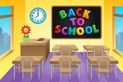 Classroom theme image 4 Stock Images