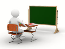 Classroom on white background Royalty Free Stock Image