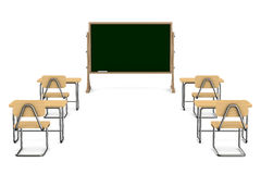 Classroom on white background Royalty Free Stock Photos