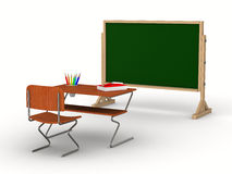 Classroom on white background. Isolated 3D Stock Photos