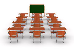 Classroom on white background. Isolated 3D Stock Images