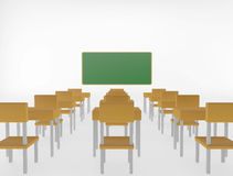 Classroom on white background Royalty Free Stock Photography