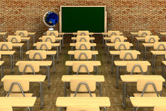 Classroom on white background Stock Images