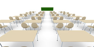 Classroom - Wide Angle Royalty Free Stock Image