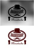 Classy Barber Shop icon, emblem or label Stock Photography