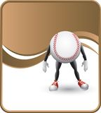 Classy baseball cartoon man. Cartoon character of a baseball Stock Images
