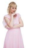 Classy blonde thinking Stock Image