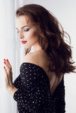 Classy caucasian beauty Stock Photo