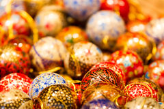 Classy Christmas Baubles Royalty Free Stock Photography