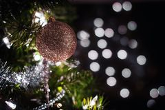 Classy Christmas Golden Ornament stock photo
