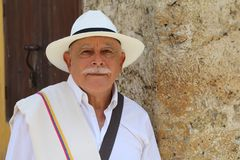 Classy Colombian elder man candid.  royalty free stock photos