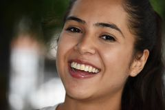 Classy Colombian Person. A young pretty Colombian teenage girl stock image