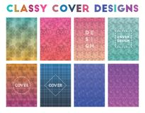 Classy Cover Designs. Adorable geometric patterns. Authentic background. Vector illustration vector illustration