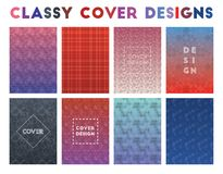 Classy Cover Designs. Alive geometric patterns. Classic background. Vector illustration royalty free illustration