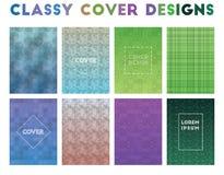Classy Cover Designs. Alive geometric patterns. Terrific background. Vector illustration vector illustration