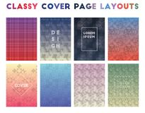 Classy Cover Page Layouts. Alive geometric patterns. Resplendent background. Vector illustration vector illustration