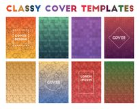 Classy Cover Templates. Actual geometric patterns. Pretty background. Vector illustration vector illustration