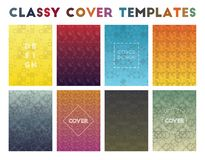 Classy Cover Templates. Actual geometric patterns. Sublime background. Vector illustration vector illustration