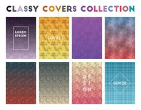 Classy Covers Collection. Actual geometric patterns. Mind-blowing background. Vector illustration royalty free illustration
