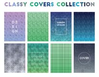 Classy Covers Collection. Alive geometric patterns. Good-looking background. Vector illustration stock illustration