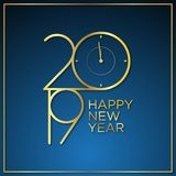 Classy design vector waiting time of new year background with color gold vector illustration