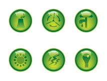 Classy ecology buttons Royalty Free Stock Images