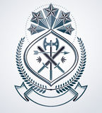 Classy emblem,  heraldic Coat of Arms. Stock Photography